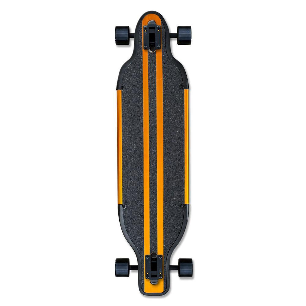 Pumpanickel Shop Yocaher Longboard Singapore Aluminium drop Through Complete Longboard Gold
