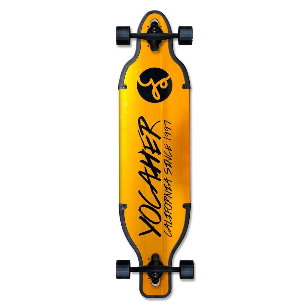 Pumpanickel Shop Yocaher Singapore Aluminium drop Through Complete Longboard Gold