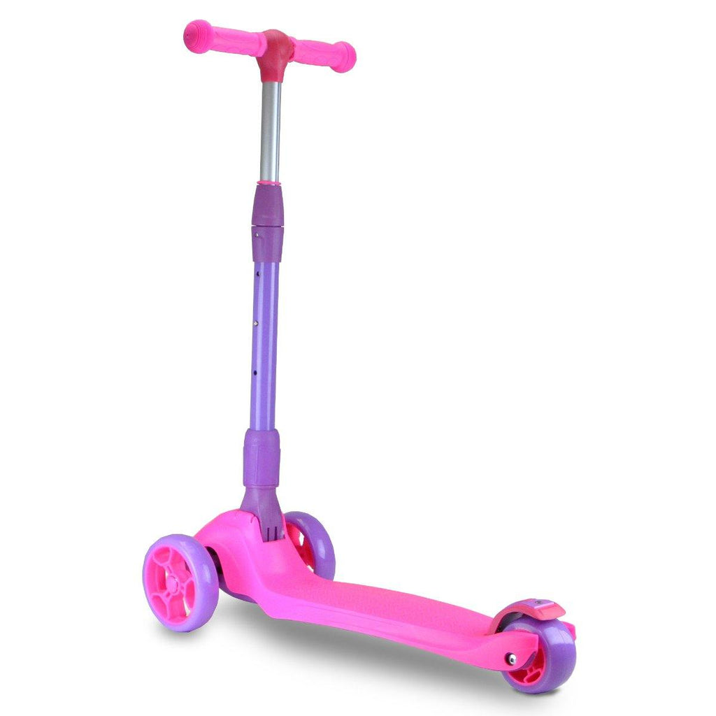 Pumpanickel Sports Shop Buy Zycom Zinger foldable kick scooter for kids age 5 to 8. Pink for girls. Quick stop rear brake