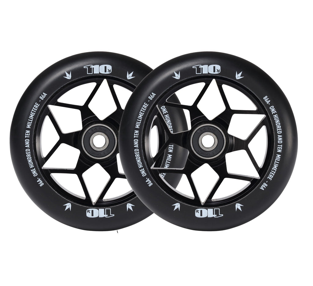 Envy Diamond Wheels 110mm Black for freestyle stunt scooters