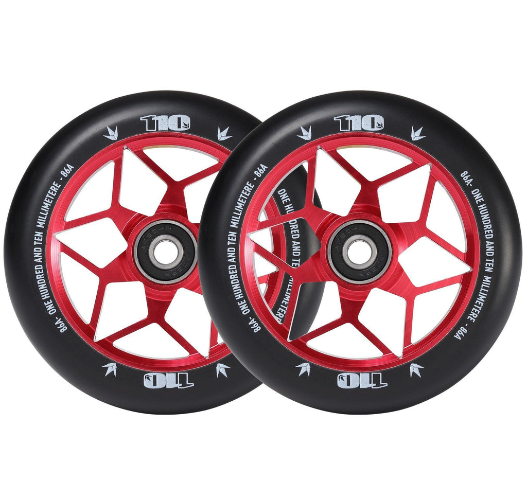 Envy Diamond Wheels 110mm Red for freestyle stunt scooters