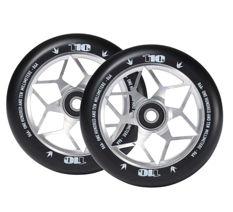 Envy Diamond Wheels 110mm Silver for freestyle stunt scooters
