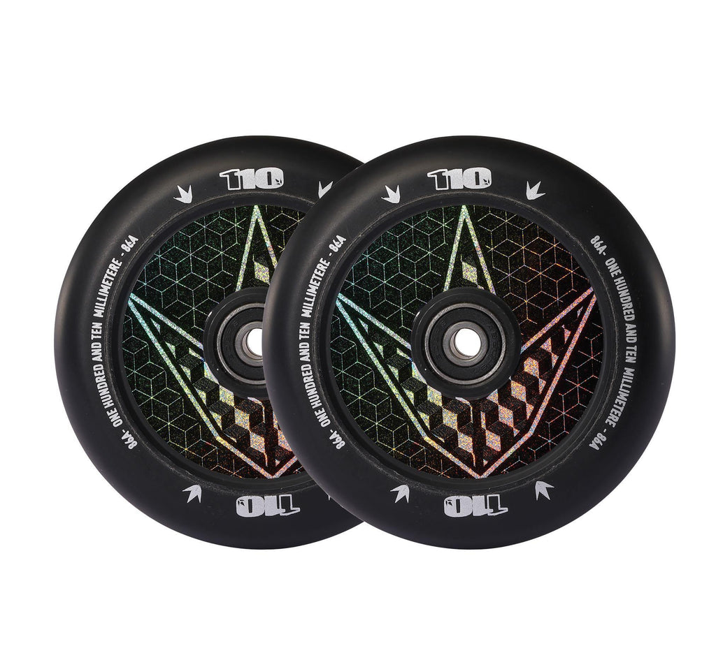 Envy Hollow Core Hologram 110 Wheels for freestyle stunt scooters - Geo design