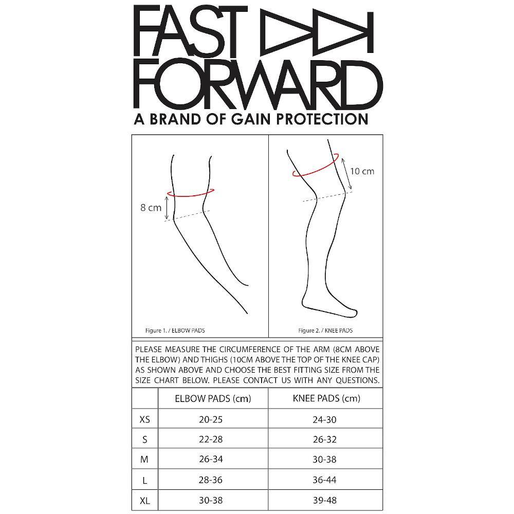 Pumpanickel Sports Shop Fast Forward The Rookie Pro Knee Pads size chart