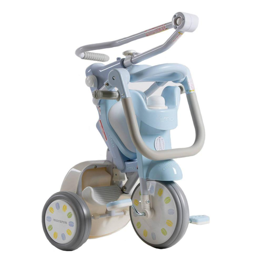 Pumpanickel Sports Shop iimo x macaron #02 foldable Japanese tricycle. 3 in 1 foldable trike for kids aged 1 to 4 years