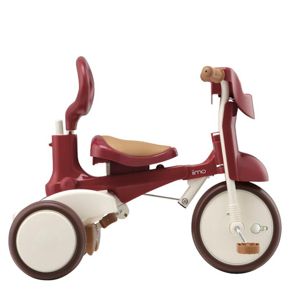 Pumpanickel Sports Shop iimo #02 foldable tricycle. 3-in-1 Japanese trike for kids. Converts to independent pedal trike