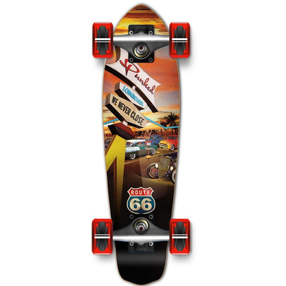 Pumpanickel Sports Shop Buy Yocaher Mini Cruiser Complete Longboard Route 66 Diner