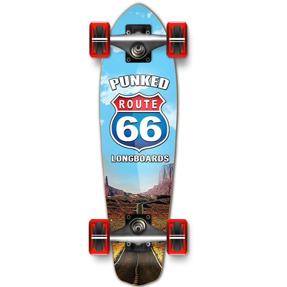Pumpanickel Sports Shop Buy Yocaher Mini Cruiser Complete Longboard Route 66 The Run