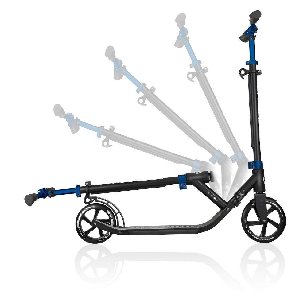 Shop Singapore Pumpanickel Sports Shop Buy Globber One NL205-180 Duo Foldable 2-Wheels Adult Kick Scooter - Cobalt Blue