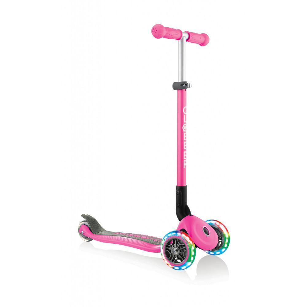 Shop Singapore Pumpanickel Sports Shop Buy Globber Primo Foldable Lights 3-Wheels Kids Scooter - Deep Pink