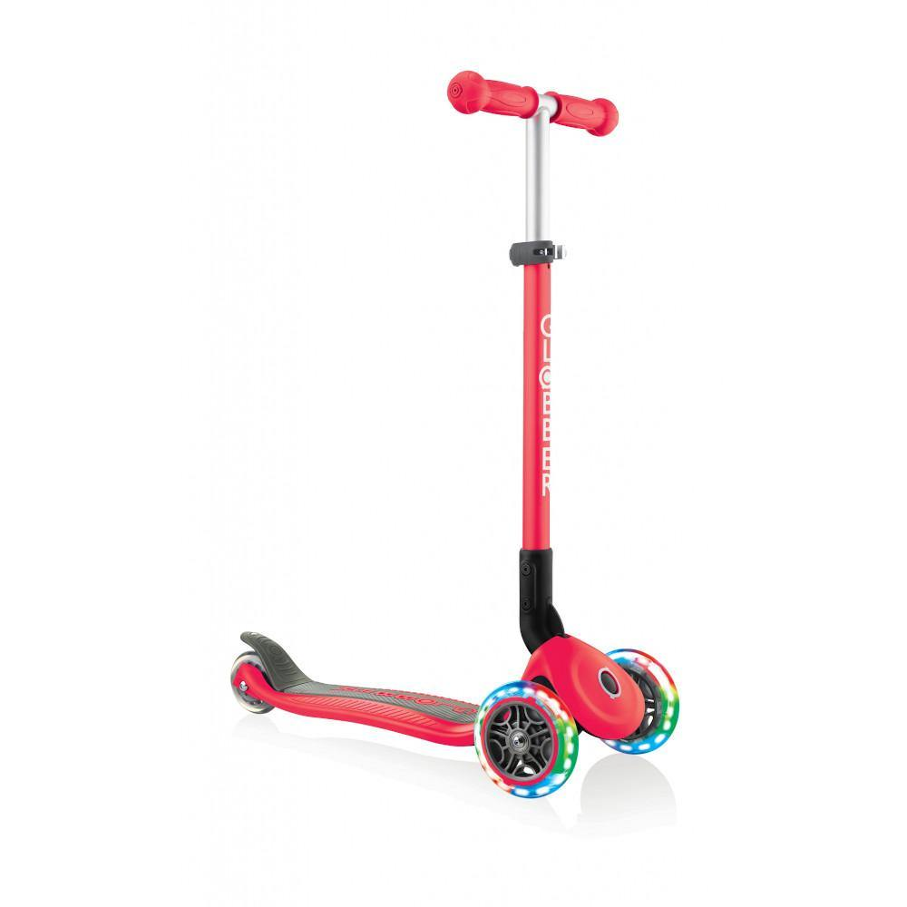 Shop Singapore Pumpanickel Sports Shop Buy Globber Primo Foldable Lights 3-Wheels Kids Scooter - Red