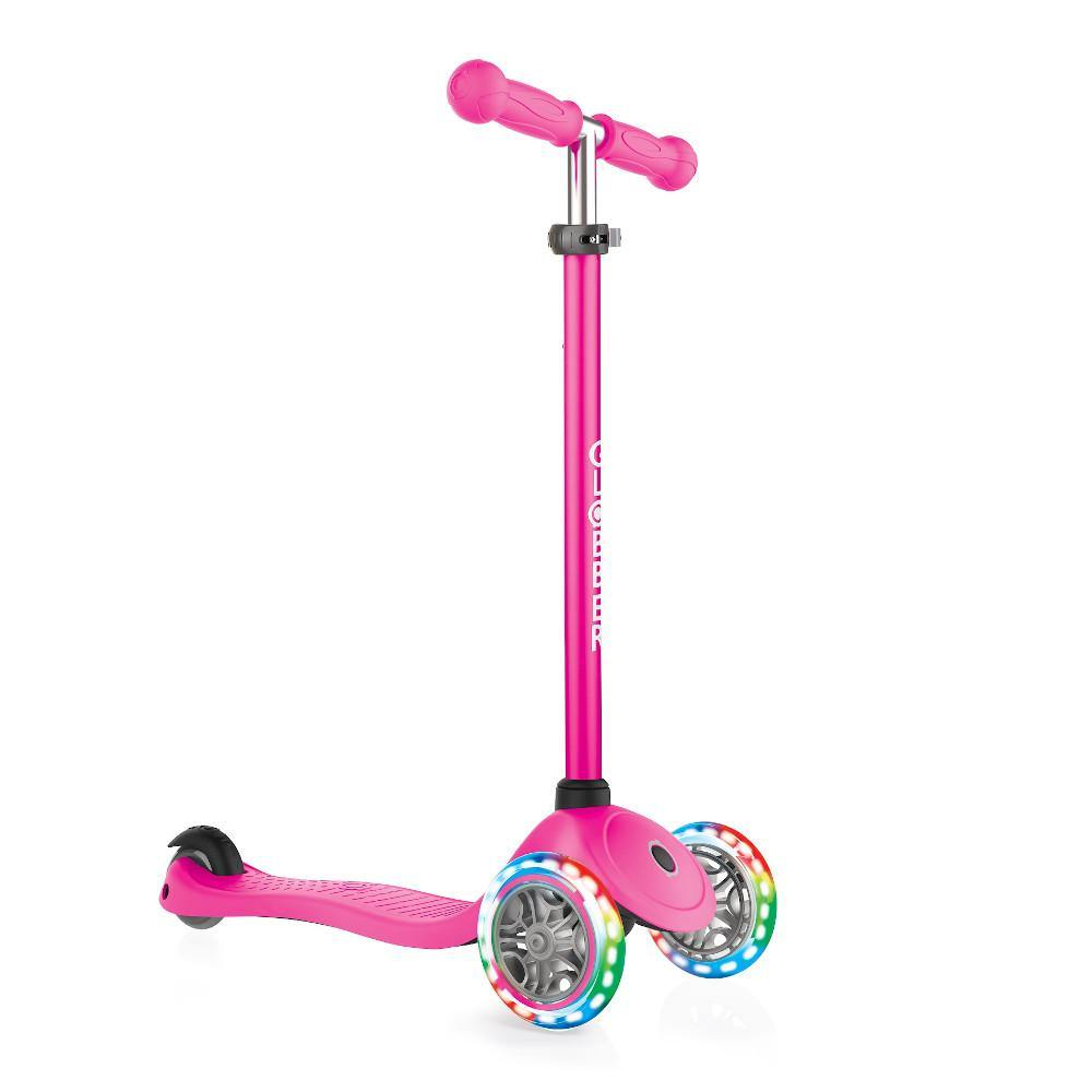 Shop Singapore Pumpanickel Sports Shop Buy Globber Primo Lights 3-Wheels Kids Scooter - Deep Pink