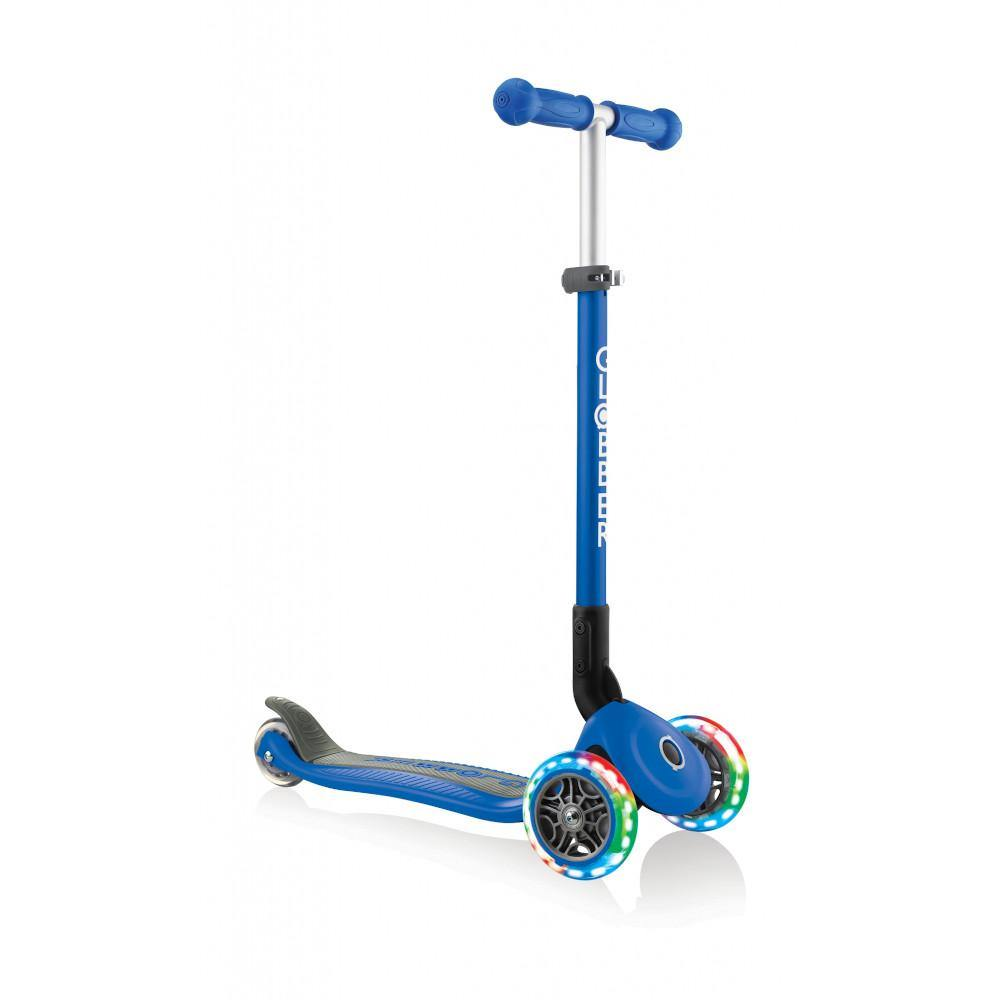 Shop Singapore Pumpanickel Sports Shop Buy Globber Primo Foldable Lights 3-Wheels Kids Scooter - Navy Blue