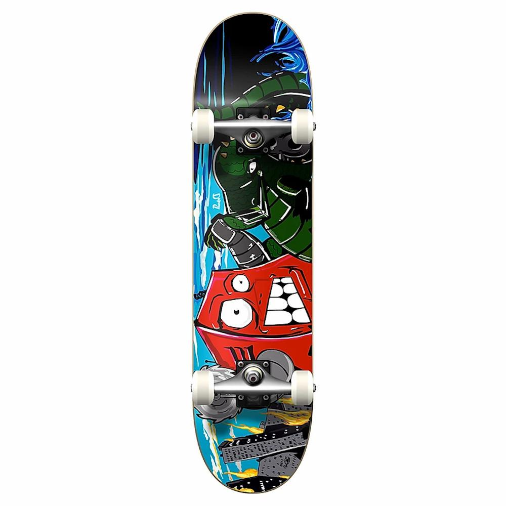"Pumpanickel Sports Shop Yocaher Skateboard Singapore. Yocaher 8"" complete skateboard Dynamic Series Robot"