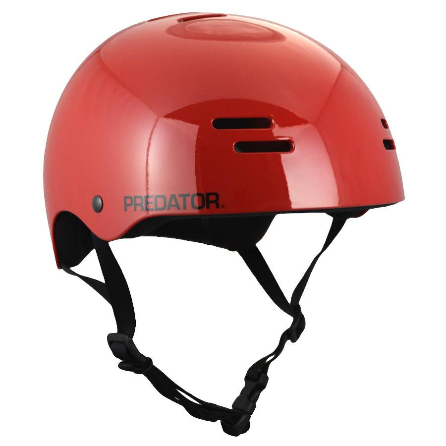 Pumpanickel Sports Shop Predator SK8 Soft Foam Skate Helmet Gloss Red