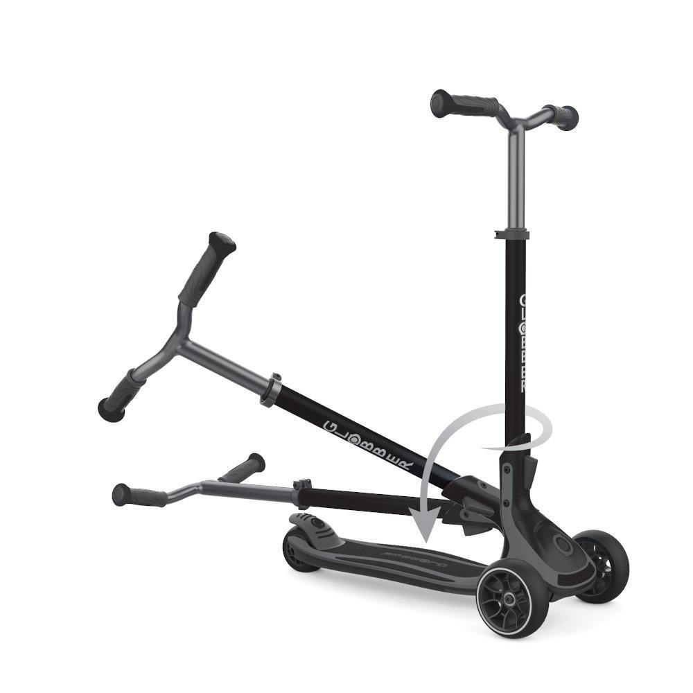 Shop Singapore Pumpanickel Sports Shop Buy Globber Ultimum Foldable 3-Wheels Kick Scooter - Black-Charcoal Grey