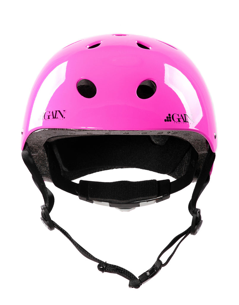 Gain Protection Sleeper Helmet - certified action sports helmets with size adjustable knob Glossy Pink