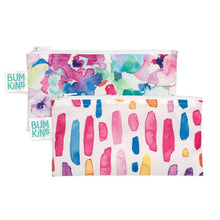 Bumkins Snack Bags 2 Pack Watercolours Brush Strokes