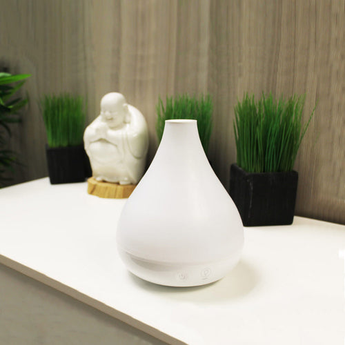 Cool Mist Humidifier + Aroma Diffuser - White