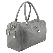 Isoki Nappy Bag Double Zip Satchel Stone