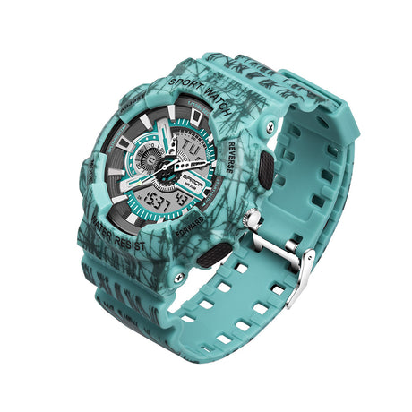 LED Digital Outdoor Camo Wrist Watch