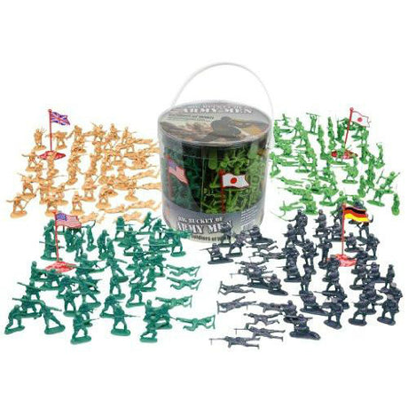 Big Bucket of Army Soldiers 200 Piece Set