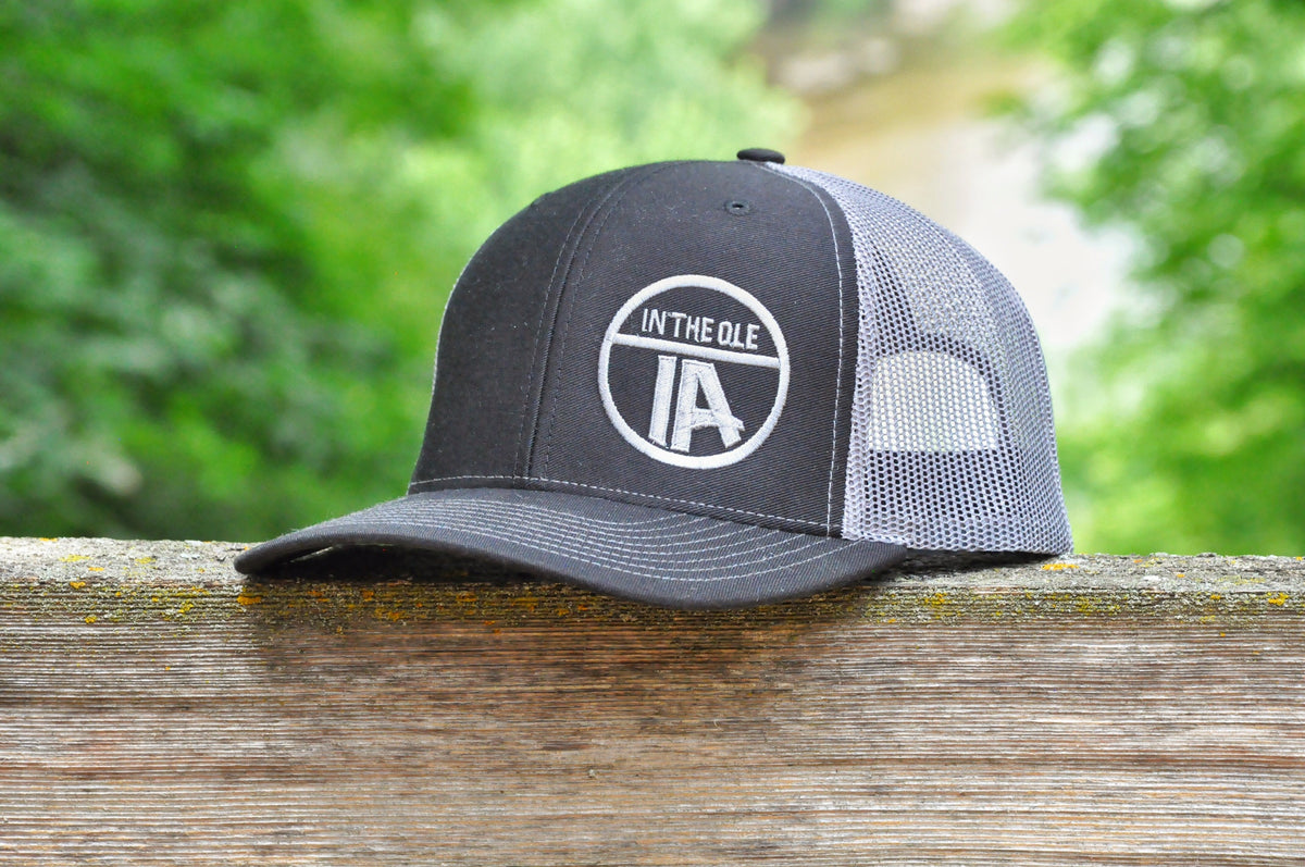 """In the Ole IA"" Black & Charcoal Snapback"