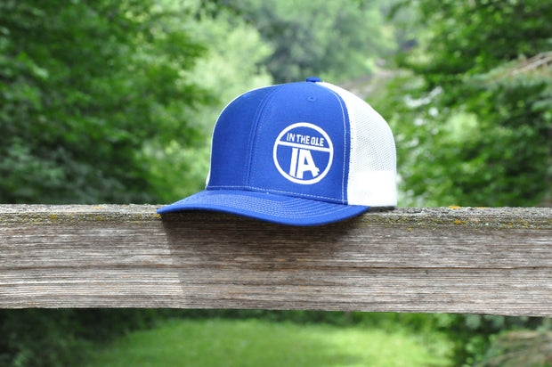 """In the Ole IA"" Royal & White Snapback"