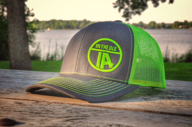 """In the Ole IA"" Neon Yellow Snapback"