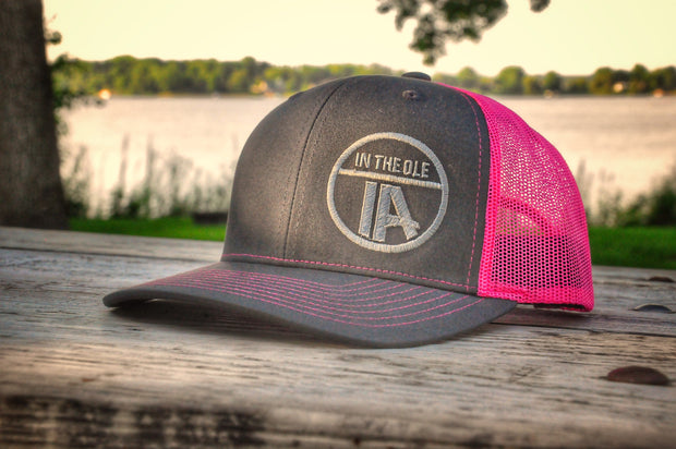 """In the Ole IA"" Neon Pink Snapback"