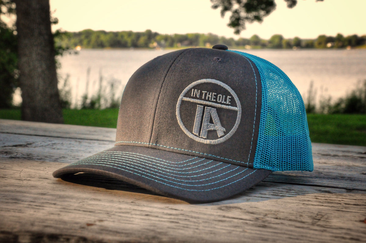 """In the Ole IA"" Neon Blue Snapback"