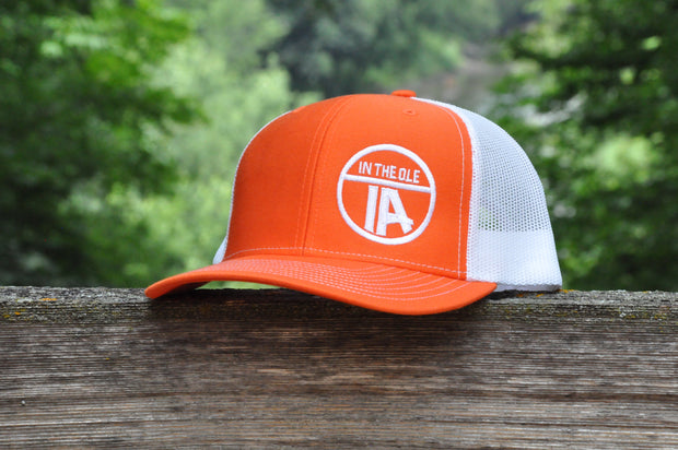 """In the Ole IA"" Orange & White Snapback"