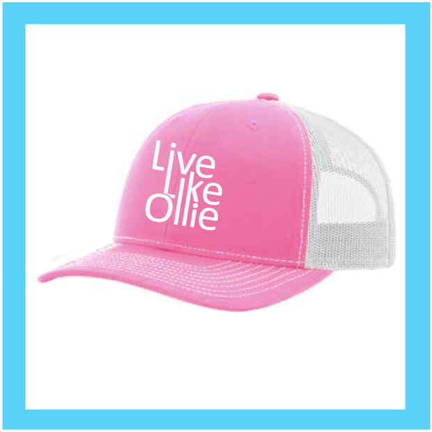 "FUNDRAISER ""Live Like Ollie"" Hot Pink Legacy Snapback"
