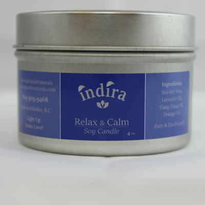 Indira Relax & Calm Soy Candle - Handmade products by a registered TCM in Whistler, BC