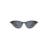Akari Trendy Oval Cat Eye Sunglasses Black