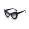 Jet Black Monaco Round Cat Eye Minimal Simple Thick Vintage Polycarbonate Frames UV400 - Free Shipping – Monarch Tokyo – Japan Fashion – Premium Sunglasses, Luxury Brand – Pairs, Specs, Shades, Frames, Sunnies