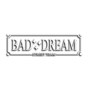 """BAD DREAM"" BOX / White vinyl die-cut - skuzgang"