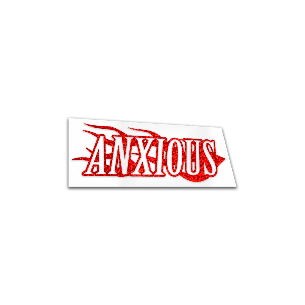 ANXIOUS HEAT - Red glitter