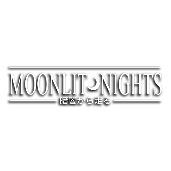 "MOONLIT NIGHTS ""RUN FROM THE DARK"" / White vinyl die-cut - skuzgang"