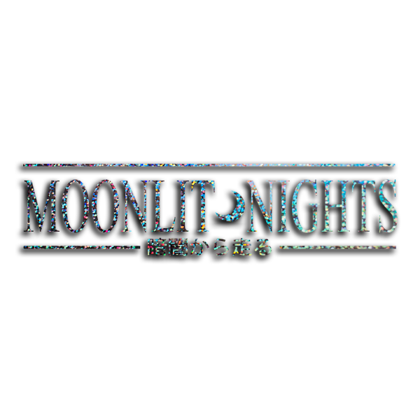"MOONLIT NIGHTS ""RUN FROM THE DARK"" / Silver glitter vinyl die-cut - skuzgang"