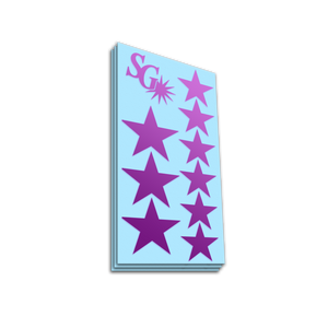 Stars sticker pack - Purple gloss