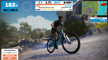 Zwift Mountain Biking - In game steering