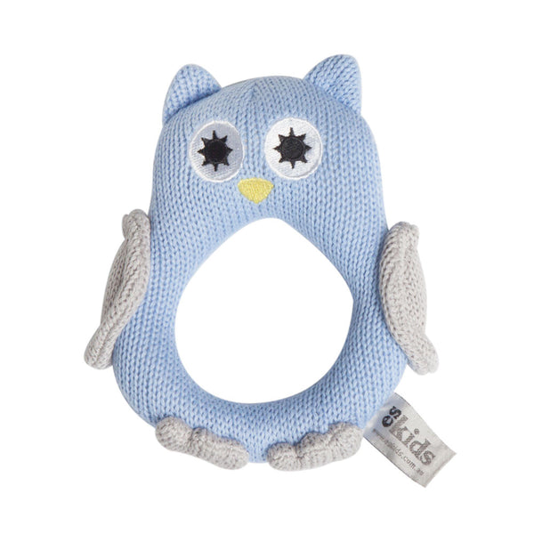 ES Kids - Knitted Owl Rattle - Hampers by Nadine