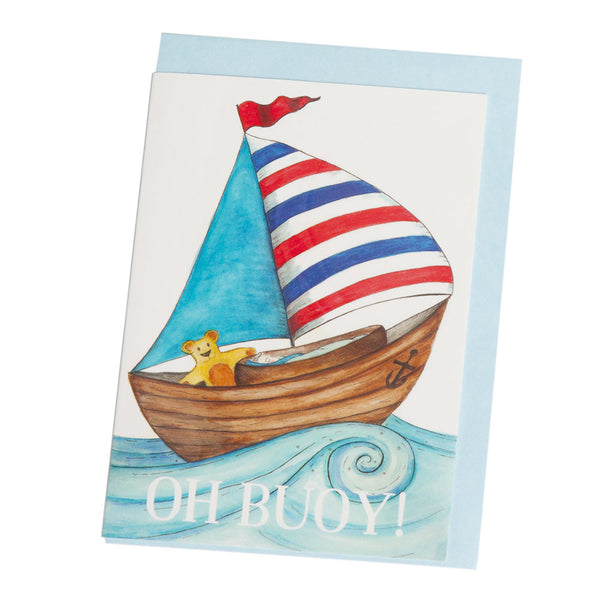 Squid Ink - Greeting Card - Oh Buoy - Hampers by Nadine