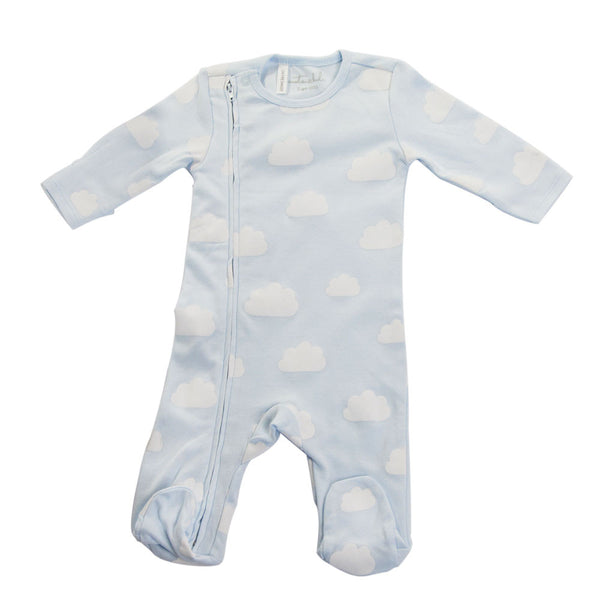 West End Home and Gifts - Clouds Romper Footed - Hampers by Nadine