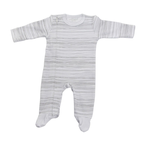 West End Home and Gifts - Scribble Romper Footed - Grey - 0-3mths - Hampers by Nadine