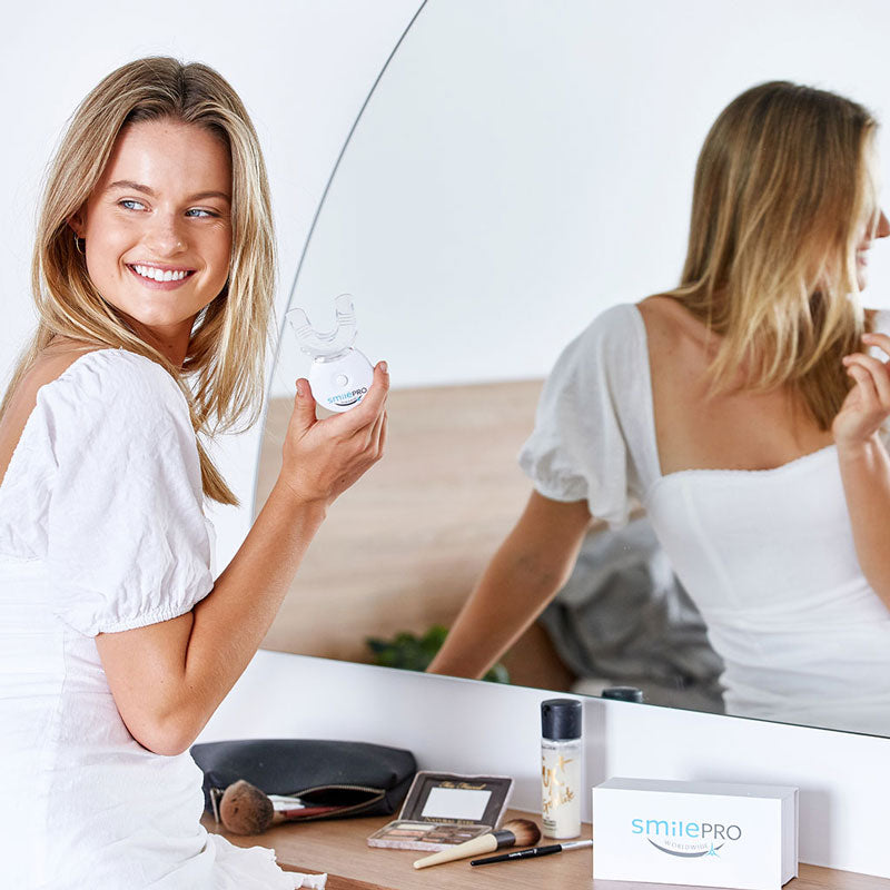 Whiten your teeth at home with SmilePro, proven results, dental grade formula, the best teeth whitening products available.