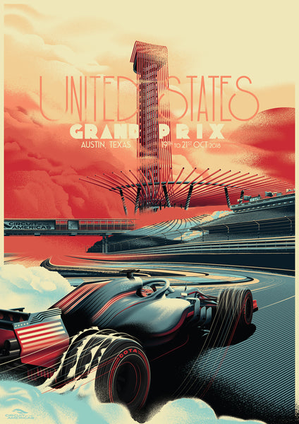 CIRCUIT OF THE AMERICAS 2018 POSTER