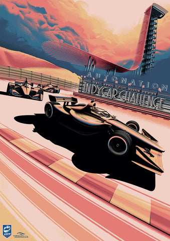 CIRCUIT OF THE AMERICAS INDYCAR 2020 POSTER