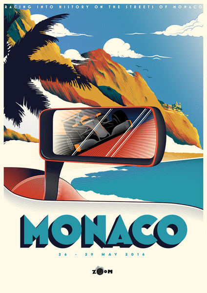 MONACO POSTCARD SIGNED BY THE ARTIST